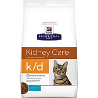 HILL'S PRESCRIPTION DIET k/d Kidney Care Ocean Fish Dry Cat Food, 8.5 lb Bag (Best Diet For Cats With Kidney Disease)