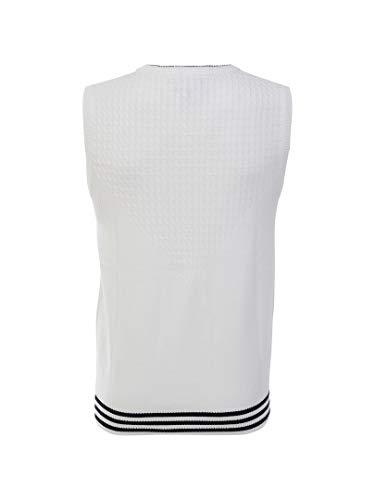 アディダス Adidas ベスト adicross エンブレム ニットベスト ホワイト O