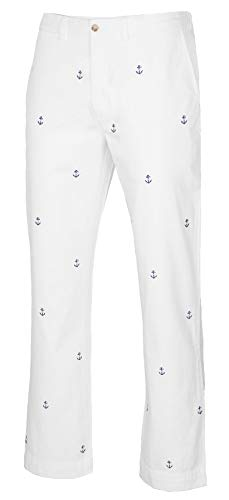 (Polo Ralph Lauren Men's Classic Fit Embroidered Chino Pants (White, 34W x 30L))