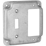 Hubbell-Raco 814C 4'' Square Exposed Work Cover, (1) Toggle, (1) Decora/GFCI
