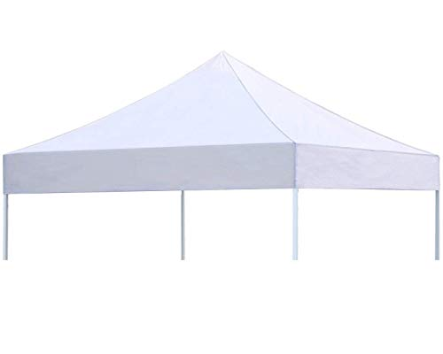 CRINEX 10x10 Canopy Tent White, Pop Up Portable Shade Instant Folding Outdoor Gazebo Canopy Tent with 3 Removable Side Walls and Carry Bag(2019 Upgrade) (White Top Cover)
