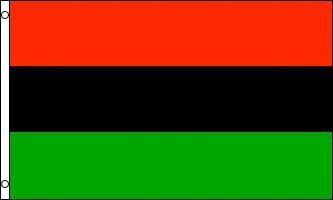 Africa Flags - 3'x5' AFRICAN AMERICAN FLAG, african-american banner, afro-american, afro american, africa negro black heritage