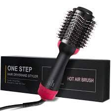 Hair Dryer Beauty Brush – Hairdryer Straightener Styler Volume Frizz Control – Hot Air Dryers – Professional Straightening Iron – Drying Attachment – Pro Salon Style Products – Volumizer Blowdryer