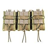 (High Speed Gear MOLLE Triple TACO Shingle, Holds 3 Rifle Magazines, Olive)