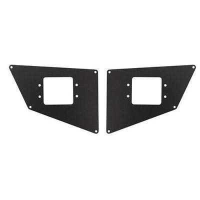 Go Rhino 281731T Textured Black Powder Coat Finish Rear Light Plate (BR20) ()