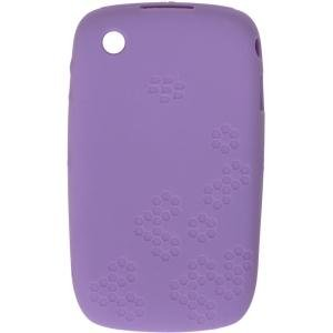 (Blackberry Curve 8520 Embossed Silicon Skin Case - Purple Lavender OEM Original HDW-24539-001)