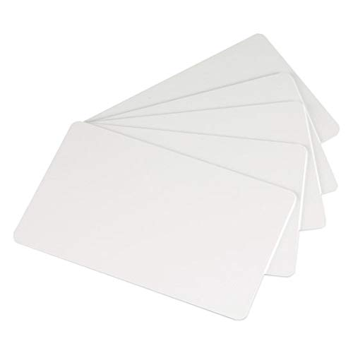 Cards Mil 30 Pvc - Premium White Blank Plastic CR80 30 Mil PVC Cards for ID Badge Printers 100 Pack