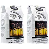 Kona Vanilla Macadamia Nut Coffee 3 pound (two 24 oz bags) by Hawaiian Isles Kona Coffee Co.
