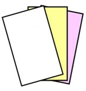 501 Sets Reams Three Pink//Canary//White Excel One Carbonless 3-Part Reverse Paper 3 231585 11 x 17 - 167 Sets Per Ream