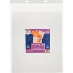 Bulk Buy: Darice Self Sealing Bags 16.25in. x 20.25in. 12/Pkg (3-Pack)