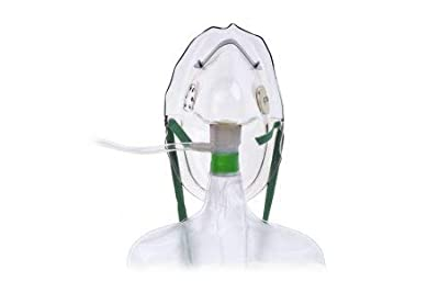 Hudson RCI 1059 Non-Rebreathing Masks with Safety Vent, Adult (Pack of 50)