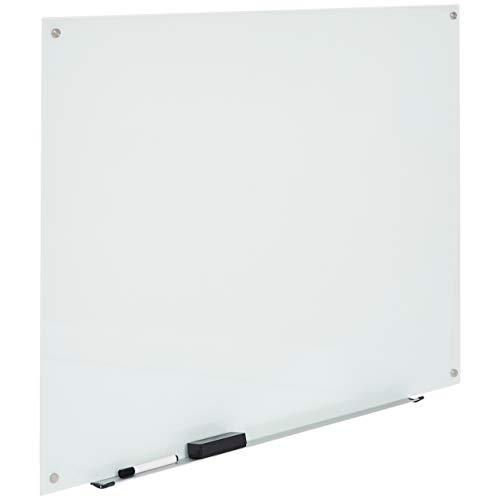 AmazonBasics Glass Dry-Erase Board - White, Magnetic, 4 Feet x 3 Feet