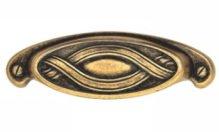 Furniture Cabinet Bin Pull Classic Antique Brass Dark 4.02
