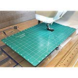 Sew Steady Free Motion Quilting Slider Mat Grid Marked 12 x 20 with Tacky Back by Simple Beginnings