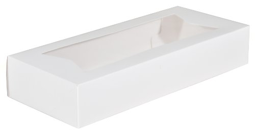 Southern Champion Tray 24243 Paperboard White Window Bakery Box, 12-1/2