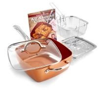 Copper Chef Deep Square Pan Set as seen on TV