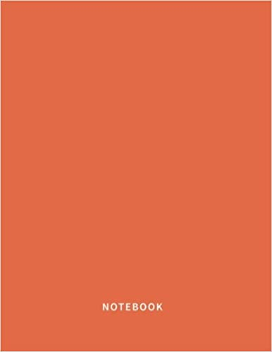 Notebook Spanish Orange Notebook Lined 120 Pages Large 85 X