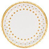 Sparkle-Shine-Gold-50th-Anniversary-Party-Supplies-Kit-Including-Dinner-Plates-Dessert-Plates-Napkins-and-Invitations-for-16-Guests