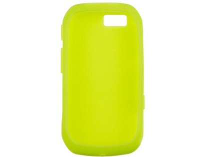 Soft Silicone Phone Cover Case Neon Green For Motorola ()