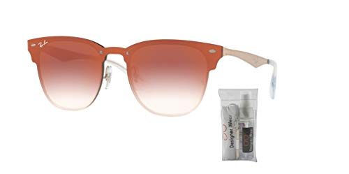 Blaze Sunglasses Copper Ray Mirror Red Brushed Gradient clear Clubmaster ban Rb3576n wgEEIqO