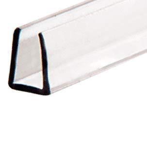 "CRL 1/4"" Clear Plastic Molding - 12 ft long"