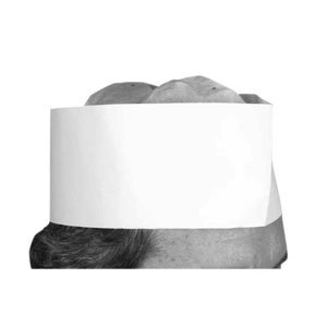 Winco Disposable 3'' Paper Chef's Hat (100 Pcs/Box),White,3''