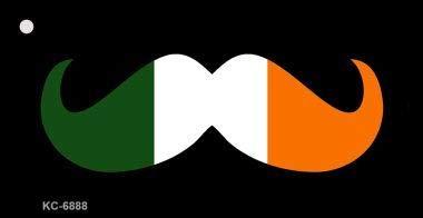 Bargain World Irish Mustache Novelty Key Chain (Sticky Notes)