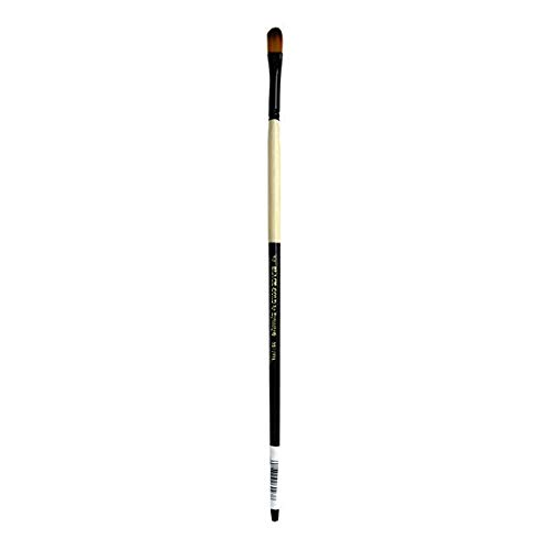 Dynasty Black Gold Series Long Handled Synthetic Brushes 4 filbert - Filbert Handled