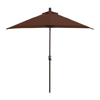 Cheap 9-Feet Half Round Patio Umbrella Smooth Crank Balcony Wall Sun Shade Durable Aluminum Frame Rust Resistant Fabric Fade Resistant Garden Outdoor Canopy