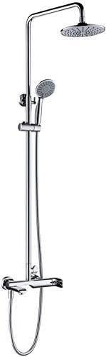 浴室用水栓 シャワー水栓 埋込式シャワー水栓 ハンドシャワー シャワー用バス水栓金具 ヘッドシャワー 壁付き 混合栓 シルバー