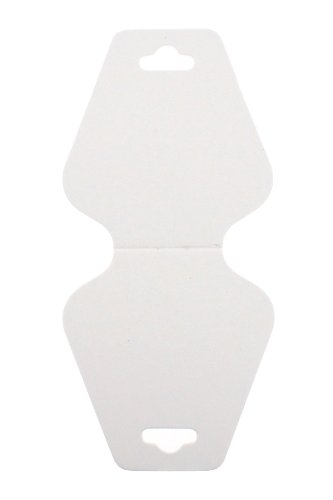 - Trimweaver 100-Piece Triangular Fold Over Display Cards, White