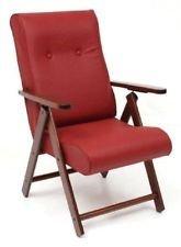 MOLISANA Fauteuil similicuir inclinable Relax 4 positions chaise canapé sofà Coussin rembourré bordeaux