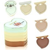 MF Cosmetics Heart-shaped 5 Colors Contour Concealer Foundation Makeup Palette with Puff
