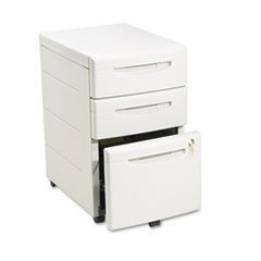 Underdesk Mobile Pedestal File - Aspira Mobile Underdesk Pedestal File, Resin, Box/Box/File Drawer, Platinum