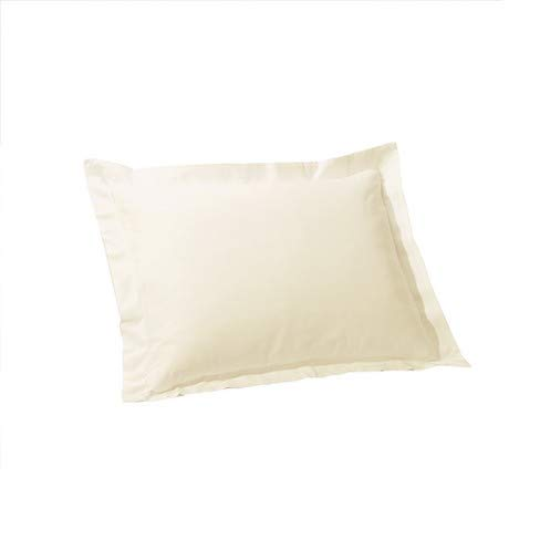 - Angel Shopping Cart Egyptian Cotton Pillow Sham Set of 2 Euro 28x28 Inches Ivory Italian Finish, Decorative, Square Continantial European Cushion Covers with 500 TC