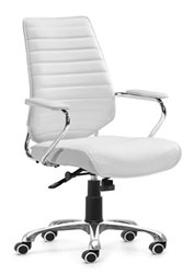 White Enterprise Low Back Office Chair by Zuo @ Office Chairs Outlet. All Zuo Modern Office Chairs are on sale. Get a volume discount on all Zuo Modern Office Chairs this week. Office Chairs Outlet showroom in San Diego is the largest chair store. (Diego San Store Outlet)