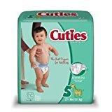 Cuties Jumbo Pack Diaper, Size 5, 108 Count