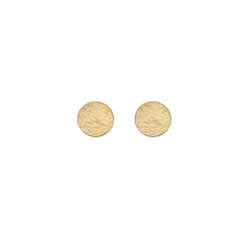 9ct or jaune petite martelé Boucles d'oreilles clous