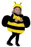 Fun World Costumes Baby Girl's Infant Bumble Bee Costume, Yellow/Black, One Size (Infant Bumble Bee Costume)