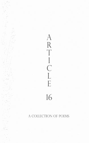 Read Online Article 16: A Collection of Poems (Authentic Vegan Poetry Series) (Volume 5) pdf epub