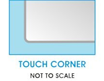 32'' Square Clear Glass Table Top 1/2'' Thick with Flat Polished Edge and Touch Corners