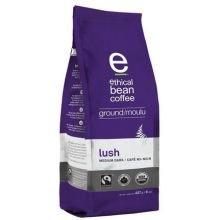 Ethical Bean Coffee Organic Lush Medium Dark Roast Ground Coffee, 8 Ounce -- 6 per case.