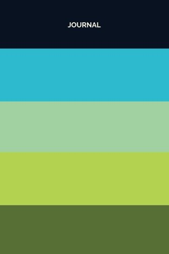 Journal (6x9 Color Block Pattern): Lined Writing Notebook, 120 Pages, Striped Navy Blue and Lime Green (Color Swatch Journals) (Volume 8)