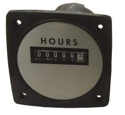 "Yokogawa 240612AAAD - Elapsed Time Meter - 2.5"", 6-Digit, 120V, Resettable - Hours"