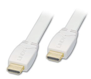 LINDY 0.5m Flat White Standard HDMI Cable
