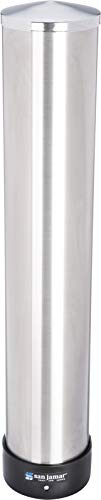 San Jamar C3400P 12-24 oz Stainless Steel Pull Type Beverage Cup Dispenser with Removable Cap ()