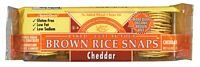Edward and Sons Organic Brown Rice Cheddar Snap Cracker, 3.5 Ounce - 12 per case.