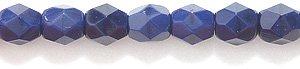 Preciosa Czech 4-mm Fire-Polished Glass Bead, Faceted Round, Opaque Deep Navy Blue , 200/pack