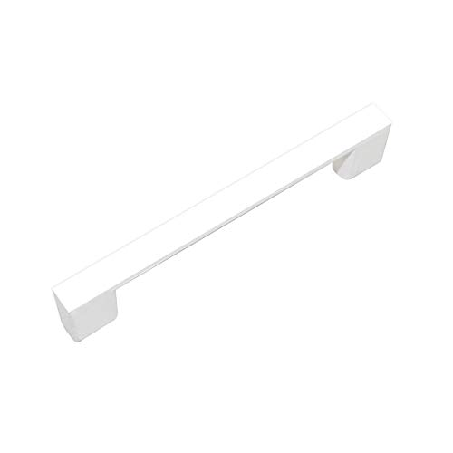 """ZHANGJIAHE Kitchen Cabinet Handles White Handles for cabinets Modern Pack of 10~3 3/4"""" (95mm) Hole Center Solid Stainless Steel Handle Pull White Paint(White)"""