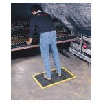 WearWell 36 x 48'' 1/2'' Thick Black/Yellow Ortho Stand Mat